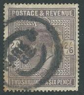 1902 GRAN BRETAGNA USATO EFFIGIE EDOARDO VII 2/6 - U3-2 - 1902-1951 (Re)