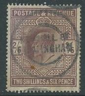 1902 GRAN BRETAGNA USATO EFFIGIE EDOARDO VII 2/6 - U3-3 - 1902-1951 (Re)