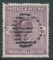 1902 GRAN BRETAGNA USATO EFFIGIE EDOARDO VII 2/6 - U3-4 - 1902-1951 (Re)