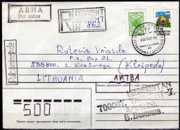 USBEKISTAN 1995 - Rekobrief Taskent Nach Litauen - Usbekistan