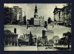 POLAND  -  Poznan  Multi View  Used Postcard - Poland