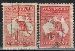 AUSTRALIEN 1913 - MiNr: 5 Ix + IIx   Used - 1913-48 Kangaroos