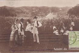 Salutari Din Romania (animation, Hotel De Franta, 1910) - Roumanie