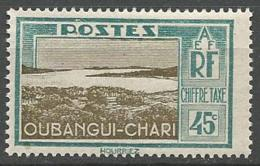 OUBANGUI TAXE N° 17 NEUF* TRACE DE  CHARNIERE / MH - Unused Stamps