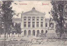 Bucuresci - Universitatea (animation, Stengel & Co, 1907) - Roumanie