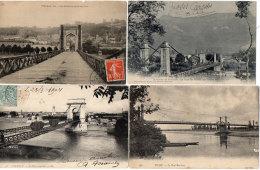 PONTS Suspendus - 4 CPA - VALENCE - TREVOUX - VICHY - VEUREY  (87937) - Bridges
