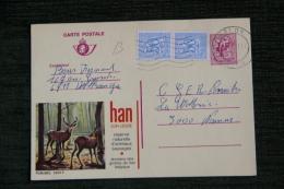 CARTE POSTALE ( Entier Postal ) Publicitaire , HAN SUR LESSE, Réserve D'Animaux Sauvages - Stamped Stationery