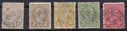 Luxembourg  Grand Duc Adolphe 1er    5 Valeurs - 1895 Adolphe Right-hand Side