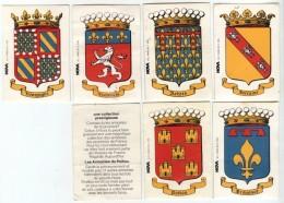 LOT De 6 Vignettes RARE  MAMIE NOVA Blason Armoiries Province Région De France  Lorraine Bourgogne Lyonnais Poitou ... - Andere
