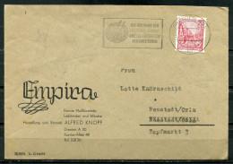 "DDR 1955 Firmen Bedarfsbrief Mit Mi.Nr.455 U.Propaganda MWST""Dresden A 24-DIE RÜCKGABE DRESDNER GEMÄLDE EINE F..""1 Beleg - DDR"