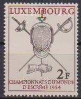 Luxemburg 1954 MiNr.523  ** Postfr. Fechtweltmeisterschaften (  262 ) - Ungebraucht
