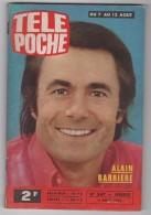 TELE POCHE N°547 - 4 Août 1976 - Alain Barrière -  Fiche Alain Colas - Télévision