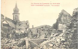 Guerre De 1904 - 18  SAINT - PIERREMONT  Bombardé - Vue Intérieure , Bon état ( Voir Scan ) - France