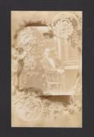 REAL  PHOTO CABINET - VRAIS PHOTO POSTCARD - ST CASIMIR EN 1902 - CARTE ÉCRITE À SON PÈRE JOS LALIBERTÉ - Photographie