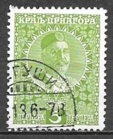 1913 5per King Nicholas I, Used - Montenegro