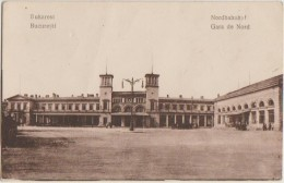 CPA ROUMANIE ROMANIA BUCAREST BUCURESTI Gara De Nord Gare Train Station 1919 - Rumania