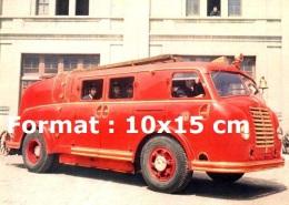 Reproduction D'une Photographie D'un Camion De Pompiers Pegaso - Reproductions