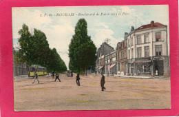 59 NORD ROUBAIX, Boulevard De Paris Vers Le Parc, Animée, Colorisée, (L. Pollet, Lille) - Roubaix