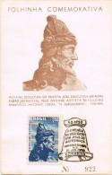 18259. Tarjeta  Hoja Conmemorativa MATOSINHOS (Brasil)  1958. Basilica Bon Jesus. Antonio Lisboa - Storia Postale