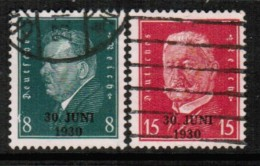 GERMANY   Scott # 385-6 VF USED - Germany
