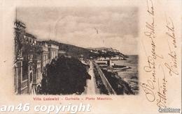 PORTO MAURIZIO-IMPERIA-VILLA LUDOWICI-GARBELLA-VG 1901-OTTIMA CONSERVAZIONE-2 SCAN- - Imperia