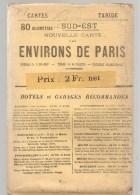 Carte TARIDE Environs De Paris Sud Est Carte Taride Routière Des Années 1920 - Cartes Routières