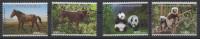Madagascar Madagaskar 2014 Mi. 2678x/2681x Chine China Set Of 4 Joint Issue Faune Fauna Panda Cheval Horse Pferd - Madagascar (1960-...)
