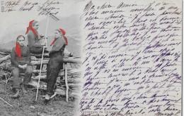 PAYSANNES DE CHAMPÉRY → Drei Frauen In Roten Kopftüchern 1902 - VS Valais