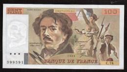 France- 100 Frs DELACROIX  - De 1984 ( C.78 )  Cat Fayette N° 69/ 8a     NEUF - 100 F 1978-1995 ''Delacroix''