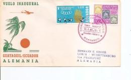 Equateur ( Vol Inaugural De 1966 De Guayaquil Vers L'Allemagne à Voir) - Equateur
