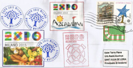 "AZERBAIDJAN.EXPO UNIVERSELLE MILAN 2015 ""Feeding The Planet"", Lettre Du Pavillon D'Azerbaidjan à Milan, - Azerbaiján"
