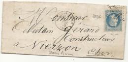 Basses Pyrénées - Mauléon Soule Pour Vierzon. GC + CàD Type 16 - Marcophilie (Lettres)