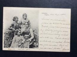AK   CEYLON   SRI LANKA   TAMIL GIRLS  1902 - Sri Lanka (Ceylon)