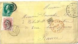 Enveloppe - Cachet  Au  Départ  De  NEW - YORK  ( Etats - Unis ) à Destination De  Lubret , Canton De Trie ( 65 ) - Amérique Centrale