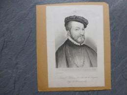 Louis De Saint-Gelais (de Lézignan) Sieur De Lansac,  LITHO Originale Vers 1850 ? ; Ref 724 VP 13 - Estampes & Gravures