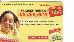 Mozambique Prepaid Card, Recharge Coupon 80 000 Mt - Mozambique