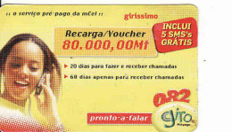 Mozambique Prepaid Card, Recharge Coupon 80 000 Mt