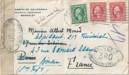 Enveloppe - Cachet  Au  Départ  De  BERKELEY  à  Destination  De  ROUEN ( 76 )  Spécimen OUVERT Autorité Militaire - Amérique Centrale
