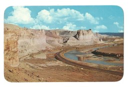 Panorama At Green River , Wyoming Showing The Palisades - Green River