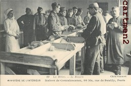 PARIS MAISON DE CONVALESCENCE 99 BIS RUE DE REUILLY PARIS SOLDATS AVEUGLES METIER BROSSERIE GUERRE HOPITAL VETERAN - Salute, Ospedali