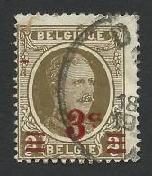 Belgium,  3 C. On 2 C. 1927, Sc # 191, Mi # 223, Used - 1922-1927 Houyoux