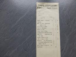 ITALIE Gênes Vers 1850, Compte D'expédition D'un Paquebot à Vapeur Français ; Ref  692 VP13 - Documents Historiques