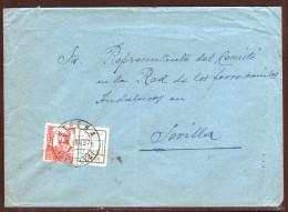 España 1937. Carta De Utrera A Sevilla. Ferrocarriles. - 1931-Hoy: 2ª República - ... Juan Carlos I