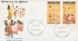 Enveloppe  FDC  1er  Jour   DJIBOUTI    Folklore  De  DJIBOUTI   1989 - Djibouti (1977-...)