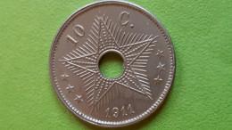 Belgisch Congo-Congo Belge: 10 C, AlbertI, 1911 - 1910-1934: Albert I