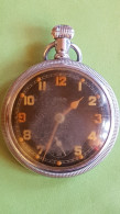Elgin, Military Pocket Watch, WOII, For Spare Or Repair, 7 Jewels - Equipement