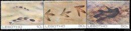 Lesotho 1984 Set/3 Dinosaur Prehistoric Footprints #445-7 - Lesotho (1966-...)