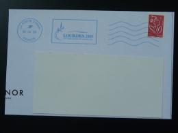 65 Hautes Pyrénées Lourdes 150 Ans Des Apparitions 2008 - Flamme Toshiba Bleue Sur Lettre Postmark On Cover - Marcophilie (Lettres)