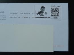 Football UEFA Euro 2016 Timbre En Ligne Sur Lettre (e-stamp On Cover) TPP 3160 - Championnat D'Europe (UEFA)