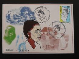 Carte Maximum Card Mariama Salim Droit Des Femmes Mayotte 1998 - Femmes Célèbres